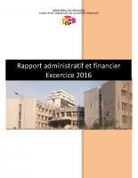 DGDP_RAPPORT ADMINISTRATIF ET FINANCIER 2016
