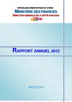 DGDP_RAPPORT ANNUEL_2012